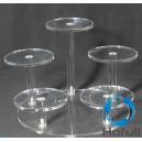 Five layers circle acrylic display